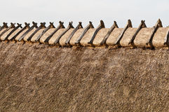 Thatch. Old danish house with thatch roof construction royalty free stock photo
