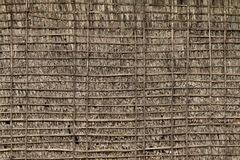 Thatch and Bamboo Wall Stock Photo