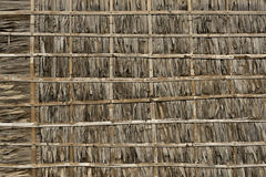 Thatch and Bamboo Wall Royalty Free Stock Photography