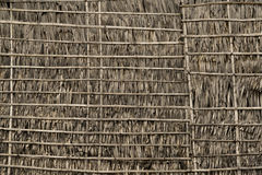 Thatch and Bamboo Wall Royalty Free Stock Photo