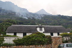 Thatch capetown house  Capetown Fires Royalty Free Stock Photos