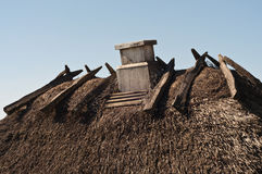 Thatch with chimney Stock Image
