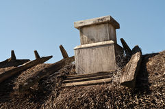 Thatch with chimney Stock Photo