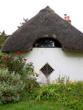 Thatch cottage country garden Stock Photo