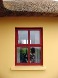Thatch Cottage Irish Window Stock Image