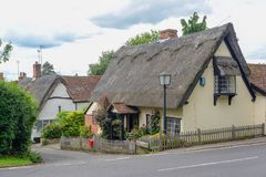 Thatch Cottage. In the Essex village of Hedingham England stock photography