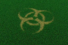 thatch för symbol för biohazardgräsgreen Royaltyfria Foton