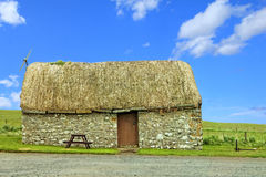 Thatch hut. An old thatch hut in Scotland Stock Photos
