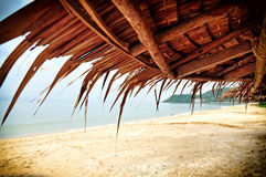 Thatch roof. Asian thatch roof at the beach Royalty Free Stock Photography