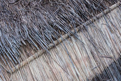 Thatch roof background. Hay or dry grass background Royalty Free Stock Image