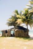 Thatch roof bamboo  beach restaurant bar Big Corn Island Nicarag Stock Images