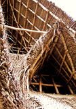 Thatch Roof Bamboo Structure royalty free stock photos