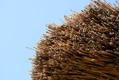Thatch roof. On blue sky background Royalty Free Stock Image