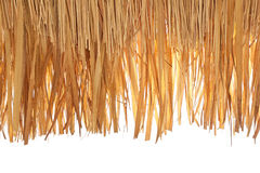 Thatch roof. Closeup of thatch roof isolated on white background stock photos