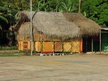 Thatch roof restaurant bar Corn Island Nicaragua Stock Photos