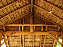 Thatch Tropical Hut Cottage Interior. Detail Royalty Free Stock Image