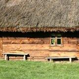 thatched крыша дома Стоковое Изображение