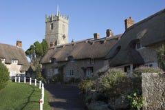 thatched by royaltyfri foto