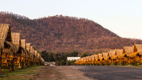 Thatched bamboo huts Mountain. Royalty Free Stock Photography