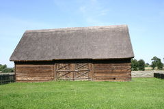 Thatched Barn. Old barn with a thatched roof Royalty Free Stock Photography