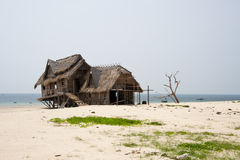 Thatched beach hut Royalty Free Stock Images