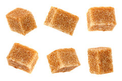 Thatched brown sugar cube collection Royalty Free Stock Photos