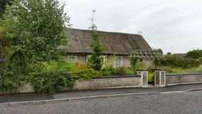 Thatched bungalow. Old irish thatched house Royalty Free Stock Photography