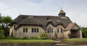 Thatched church Freshwater Bay Isle of Wight Royalty Free Stock Photos