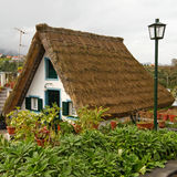 Thatched cottage. Typical house in Santana on the island of Madeira royalty free stock image
