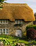 Thatched Cottage. And front garden taken in a village of Dorset UK Stock Images