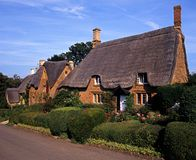 Thatched cottage, Great Tew, UK. Royalty Free Stock Photo