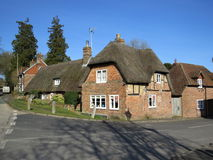 Thatched Cottage. In the Hampshire village of West Meon, UK Stock Image