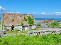 Thatched Cottage on Inis Mor. Aran Islands, Ireland Stock Photography