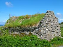 Thatched Cottage on Inis Mor. Aran Islands, Ireland Royalty Free Stock Photos