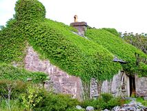 Thatched Cottage on Inis Mor. Aran Islands, Ireland Royalty Free Stock Images