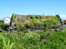 Thatched Cottage on Inis Mor. Aran Islands, Ireland Royalty Free Stock Photo