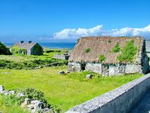 Thatched Cottage on Inis Mor. Aran Islands, Ireland Royalty Free Stock Photography