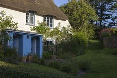 Thatched cottage at Inner Hope, Hope Cove, Devon, England Royalty Free Stock Image