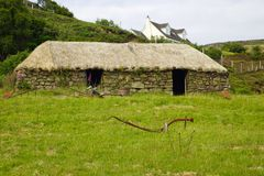 Thatched cottage on the Isle of Skye. Scotland stock photos