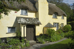 Thatched Cottage. Large Thatched Cottage, Exmoor, Somerset Stock Image