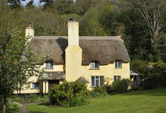 Thatched Cottage. Large Thatched Cottage, Exmoor, Somerset royalty free stock photos