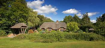 Thatched cottage panorama Royalty Free Stock Image