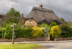 Thatched cottage. Pretty thatched stone cottage, Cotswolds, Chipping Campden, Gloucestershire, England Royalty Free Stock Photos