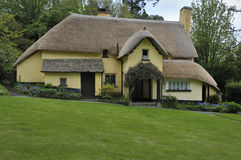 Thatched Cottage. Traditional Thatched Cottage & Gardens, Exmoor, Somerset Royalty Free Stock Images