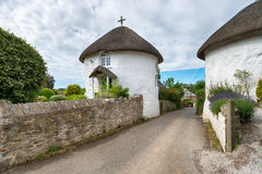 Thatched Cottage at Veryan in Cornwall Royalty Free Stock Image