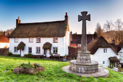 Thatched Cottages on Dartmoor Royalty Free Stock Photos
