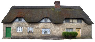 Thatched Cottages, England Stock Images