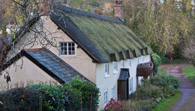 Thatched cottages in Somerset UK Royalty Free Stock Images
