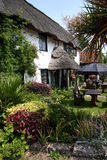 Thatched Devon Pub. Attractive thatched Devon pub with garden Stock Photos