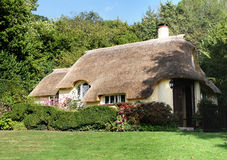 Thatched English Cottage. Idyllic Thatched Cottage and garden in a Rural English Village Royalty Free Stock Images